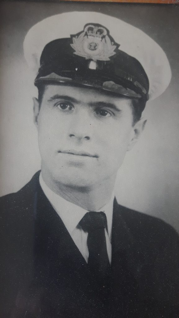 Merchant Navy Radio Officer Derek Kelly in 1966