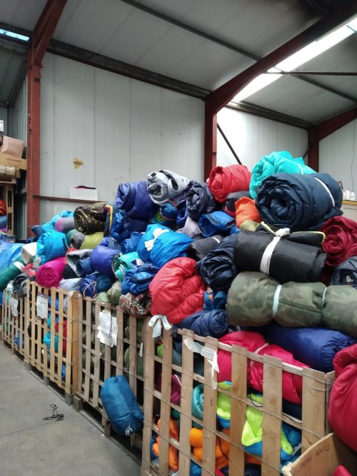 donated sleeping bags