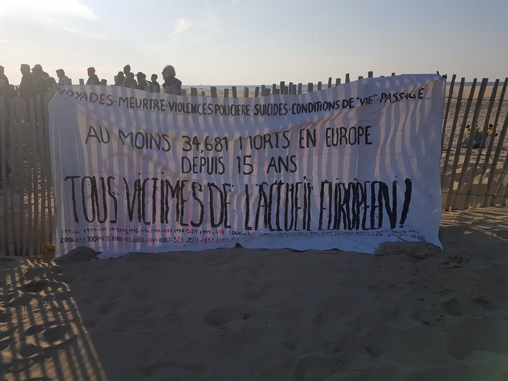 Refugee protest Calais April 2019